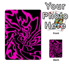Magenta And Black Multi Purpose Cards (rectangle)