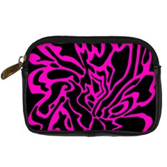 Magenta And Black Digital Camera Cases by Valentinaart
