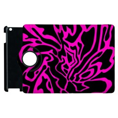 Magenta And Black Apple Ipad 3/4 Flip 360 Case by Valentinaart
