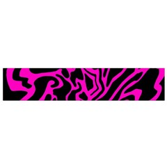 Magenta And Black Flano Scarf (small)