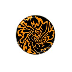 Orange And Black Hat Clip Ball Marker (4 Pack) by Valentinaart