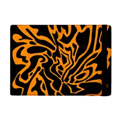 Orange And Black Apple Ipad Mini Flip Case by Valentinaart