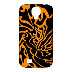 Orange And Black Samsung Galaxy S4 Classic Hardshell Case (pc+silicone) by Valentinaart