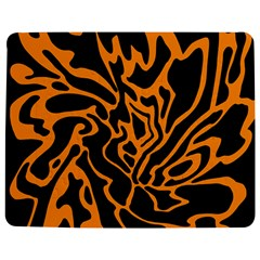 Orange And Black Jigsaw Puzzle Photo Stand (rectangular) by Valentinaart