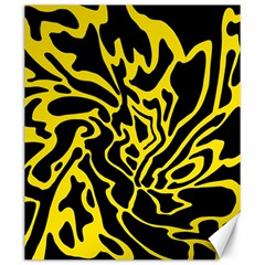 Black And Yellow Canvas 20  X 24   by Valentinaart