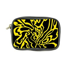 Black And Yellow Coin Purse by Valentinaart