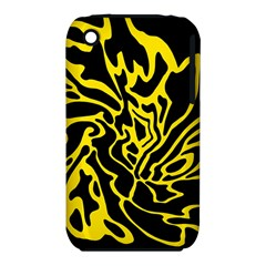 Black And Yellow Apple Iphone 3g/3gs Hardshell Case (pc+silicone)