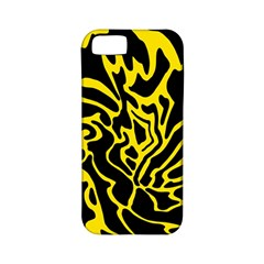 Black And Yellow Apple Iphone 5 Classic Hardshell Case (pc+silicone) by Valentinaart