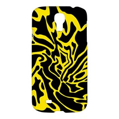 Black And Yellow Samsung Galaxy S4 I9500/i9505 Hardshell Case by Valentinaart