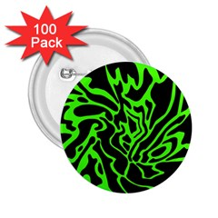Green And Black 2 25  Buttons (100 Pack)  by Valentinaart