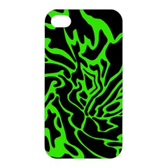 Green And Black Apple Iphone 4/4s Hardshell Case by Valentinaart