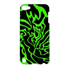 Green And Black Apple Ipod Touch 5 Hardshell Case by Valentinaart