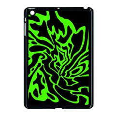 Green And Black Apple Ipad Mini Case (black) by Valentinaart