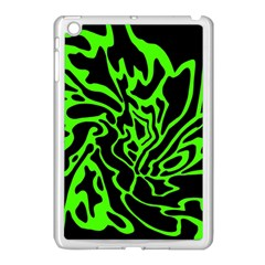 Green And Black Apple Ipad Mini Case (white) by Valentinaart