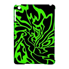 Green And Black Apple Ipad Mini Hardshell Case (compatible With Smart Cover) by Valentinaart