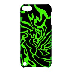 Green And Black Apple Ipod Touch 5 Hardshell Case With Stand by Valentinaart