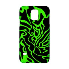 Green And Black Samsung Galaxy S5 Hardshell Case  by Valentinaart