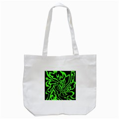 Green And Black Tote Bag (white) by Valentinaart