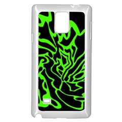 Green And Black Samsung Galaxy Note 4 Case (white)