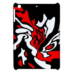 Red, Black And White Decor Apple Ipad Mini Hardshell Case by Valentinaart