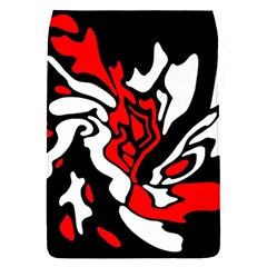 Red, Black And White Decor Flap Covers (s)  by Valentinaart