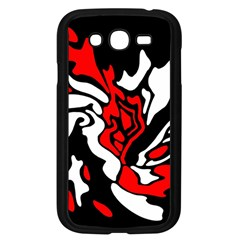 Red, Black And White Decor Samsung Galaxy Grand Duos I9082 Case (black) by Valentinaart