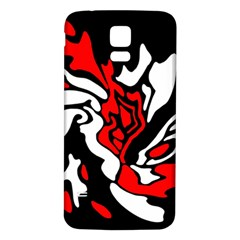 Red, Black And White Decor Samsung Galaxy S5 Back Case (white)