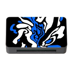 Blue, Black And White Decor Memory Card Reader With Cf by Valentinaart