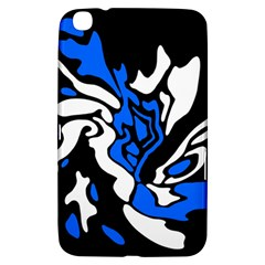 Blue, Black And White Decor Samsung Galaxy Tab 3 (8 ) T3100 Hardshell Case  by Valentinaart