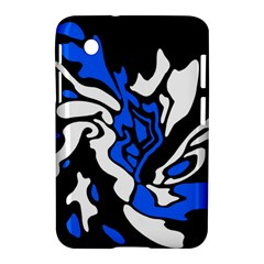Blue, Black And White Decor Samsung Galaxy Tab 2 (7 ) P3100 Hardshell Case  by Valentinaart