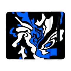 Blue, Black And White Decor Samsung Galaxy Tab Pro 8 4  Flip Case by Valentinaart