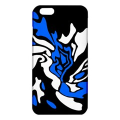 Blue, Black And White Decor Iphone 6 Plus/6s Plus Tpu Case by Valentinaart