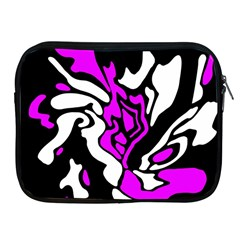 Purple, White And Black Decor Apple Ipad 2/3/4 Zipper Cases by Valentinaart