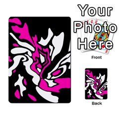Magenta, Black And White Decor Multi Purpose Cards (rectangle)  by Valentinaart
