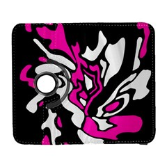 Magenta, Black And White Decor Samsung Galaxy S  Iii Flip 360 Case by Valentinaart
