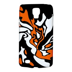 Orange, White And Black Decor Galaxy S4 Active by Valentinaart