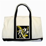 Yellow, black and white decor Two Tone Tote Bag Front