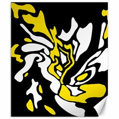 Yellow, Black And White Decor Canvas 20  X 24