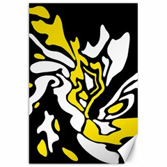 Yellow, Black And White Decor Canvas 20  X 30