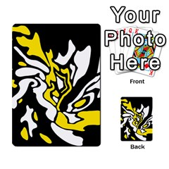 Yellow, Black And White Decor Multi Purpose Cards (rectangle)  by Valentinaart