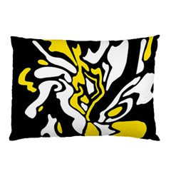 Yellow, Black And White Decor Pillow Case