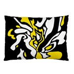 Yellow, black and white decor Pillow Case 26.62 x18.9  Pillow Case