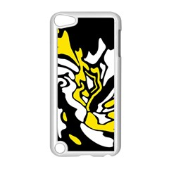 Yellow, Black And White Decor Apple Ipod Touch 5 Case (white)
