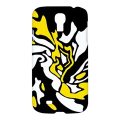 Yellow, Black And White Decor Samsung Galaxy S4 I9500/i9505 Hardshell Case by Valentinaart