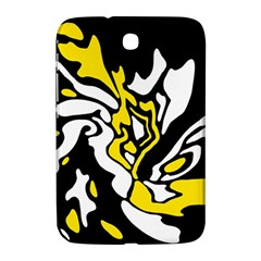 Yellow, Black And White Decor Samsung Galaxy Note 8 0 N5100 Hardshell Case  by Valentinaart