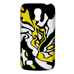 Yellow, Black And White Decor Galaxy S4 Mini by Valentinaart
