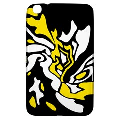 Yellow, Black And White Decor Samsung Galaxy Tab 3 (8 ) T3100 Hardshell Case