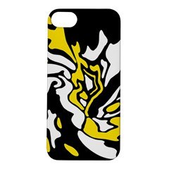 Yellow, Black And White Decor Apple Iphone 5s/ Se Hardshell Case by Valentinaart