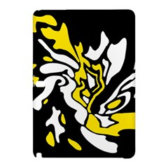 Yellow, Black And White Decor Samsung Galaxy Tab Pro 10 1 Hardshell Case by Valentinaart