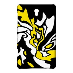 Yellow, Black And White Decor Samsung Galaxy Tab S (8 4 ) Hardshell Case  by Valentinaart